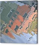 Burano House Reflections Canvas Print