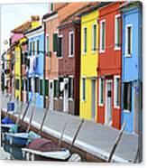 Burano Italy 2 Canvas Print