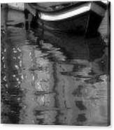 Burano Reflections Bw Canvas Print