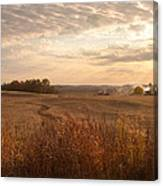 Burning Leaves On The Farm Canvas Print