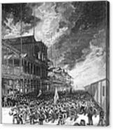 Burning Of Colon, 1885 Canvas Print