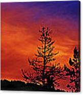 Burning Sunrise Canvas Print