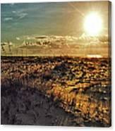 Burnt Orange Sunrise Canvas Print