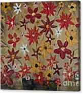 Burst Of Flowers Yellow And Red Canvas Print