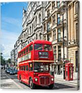 Bus On Piccadilly Canvas Print
