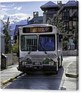 Bus To East Vail - Colorado Canvas Print