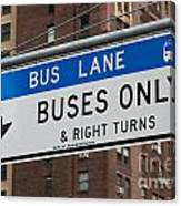 Buses Only I Canvas Print
