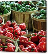 Bushels Of Green And Red Canvas Print