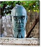 Bust Of Carlos Lleras Restrepo In Cartagena De Indias Colombia Canvas Print