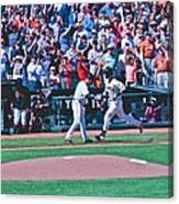 Buster Posey Runs Home Canvas Print