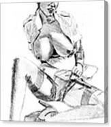 Busty Nurse Canvas Print
