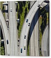 Busy Freeway Interchange Canvas Print