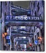 Butlers Wharf London Hdr Canvas Print
