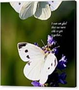 Butterflies - Cabbage White - Enjoyed The Togetherness Canvas Print
