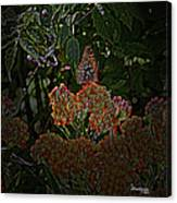Butterfly And Flowers Canvas Print