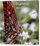 Butterfly Friendship Card Canvas Print
