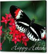 Butterfly Holiday Card Canvas Print
