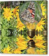 Butterfly In A Bulb II - Landscape Canvas Print