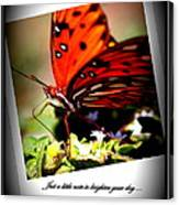 Butterfly Note Card Canvas Print