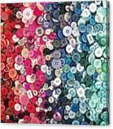 Button Button Canvas Print