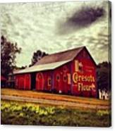 Buy Flour. #barn #pa #pennsylvania Canvas Print