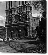 Vintage France Paris Notre Dame Cathedral 1970 Canvas Print