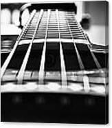Bw Guitar Canvas Print