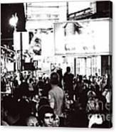 Bw Times Square Canvas Print