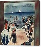 By The Beautiful Sea, 1914 Canvas Print