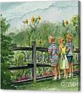 By The Garden Fence  Canvas Print