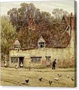 By The Old Cottage Canvas Print
