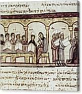 Byzantine Philosophy School Canvas Print