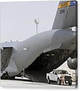 C-17s Deliver, Pick-up Cargo Canvas Print