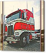Cab-over Kenworth Canvas Print