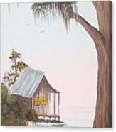 Cabin In The Swamp Canvas Print