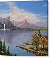 Cabin with a View Canvas Print
