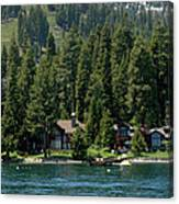 Cabins On The Lake Tahoe Canvas Print