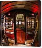Cable Car Door Canvas Print