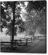 Cades Cove Tennessee In Black And White Canvas Print