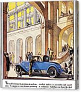 Cadillac Ad, 1927 Canvas Print