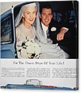Cadillac Ad, 1955 Canvas Print
