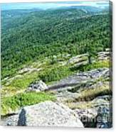 Cadillac Mountain Rocky View Canvas Print