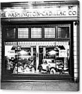 Cadillac Storefront, 1927 Canvas Print