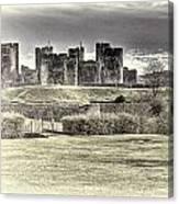 Caerphilly Castle Cream Canvas Print