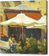 Cafe In Montecito Canvas Print