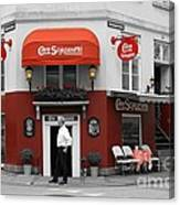 Cafe Sorgenfri Canvas Print