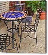 Cafe Table Canvas Print