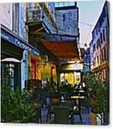 Cafe Terrace On The Place Du Forum Canvas Print