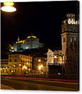Calahorra Cathedral At Night Canvas Print