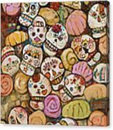Calaveras Azucar Y Pan Dulce Canvas Print